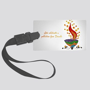 Happy Diwali Large Luggage Tag